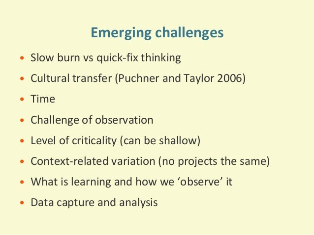 importance of ea s and the challenges Culture and youth development needs to be a priority in finding creative solutions to today's challenges taking into consideration the importance of.