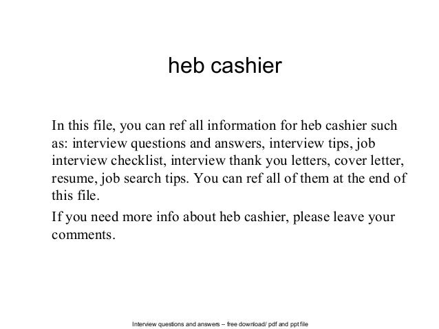 Heb Cashier