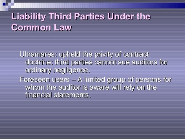 Legal liability of certified public accountants