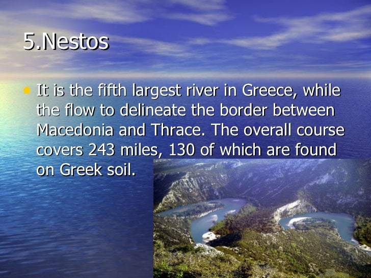The Biggest Rivers In Greece - 5 largest rivers