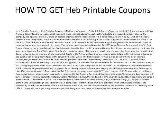 heb printable coupons 2