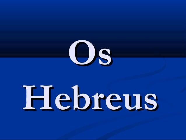 OsHebreus
