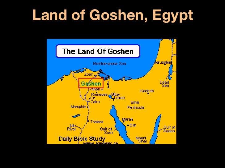 Hebrew Notes - Map of egypt goshen