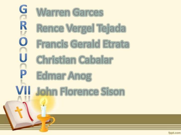 Warren GarcesRence Vergel TejadaFrancis Gerald EtrataChristian CabalarEdmar AnogJohn Florence Sison