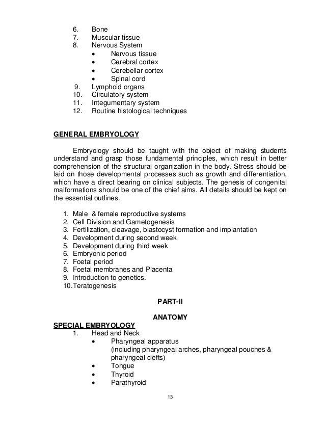Syllabus for mbbs students by pmdc