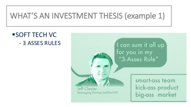 We are a thesis-driven venture capital firm