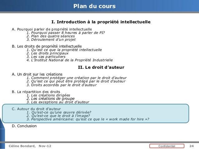 Cours De Propriete Intellectuelle Introduction Et Droit D Auteur P