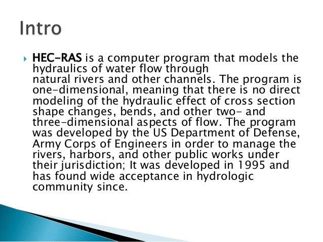 (PDF) Application of HEC-RAS for a flood study of a river ...
