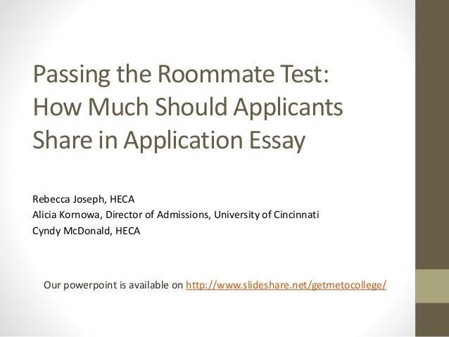 university of cincinnati application essay