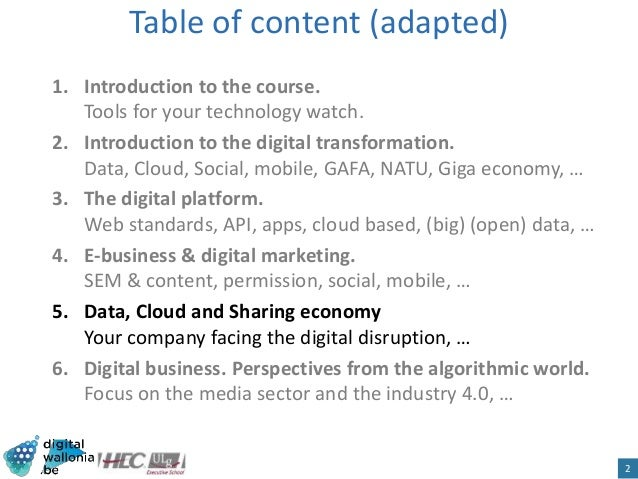 HEC Digital Business. Sharing Economy and other trends Slide 2