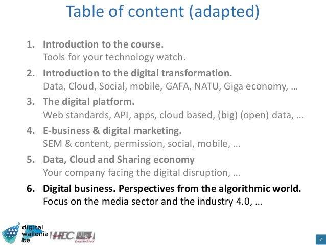 HEC Digital Business. Digital Business Slide 2