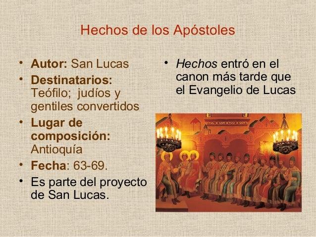 Hechos de los apóstoles. Introducción.