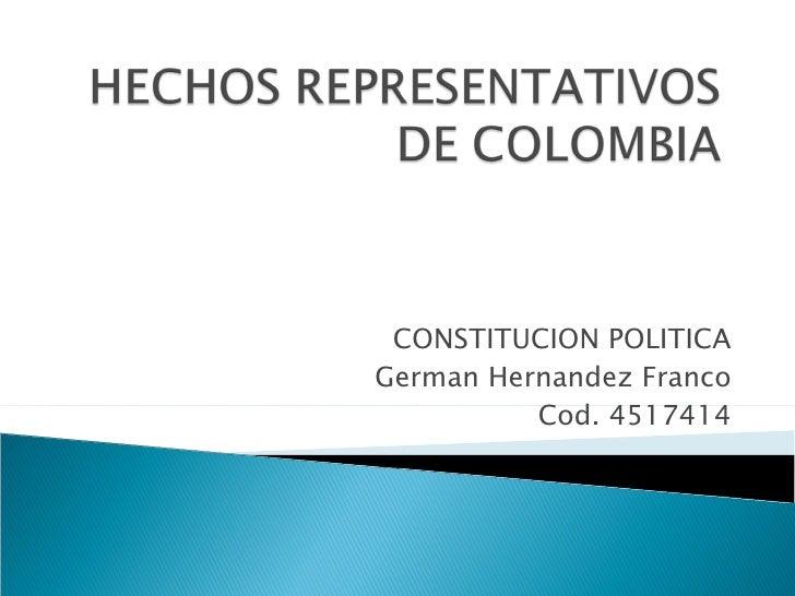 CONSTITUCION POLITICA German Hernandez Franco Cod. 4517414