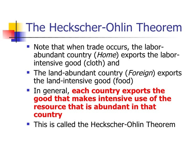 an analysis of the heckscher ohlin model of trade A review of the theoretical twists and turns in the development of the heckscher-ohlin model and an empirical assessment of the basic model and three related theorems baldwin's analysis makes clear that heckscher and ohlin blazed trails that have aided the progress of later researchers and that.