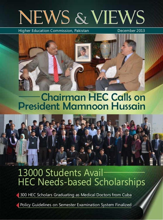 Hec news and views december, 2013