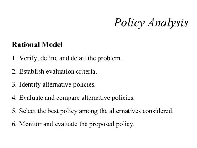 rational policy model