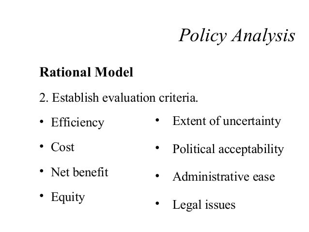 Public Policy Analysis and Evaluation
