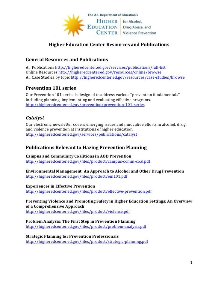 Higher Education Center Resources and PublicationsGeneral Resources and PublicationsAll Publications http://higheredcenter...