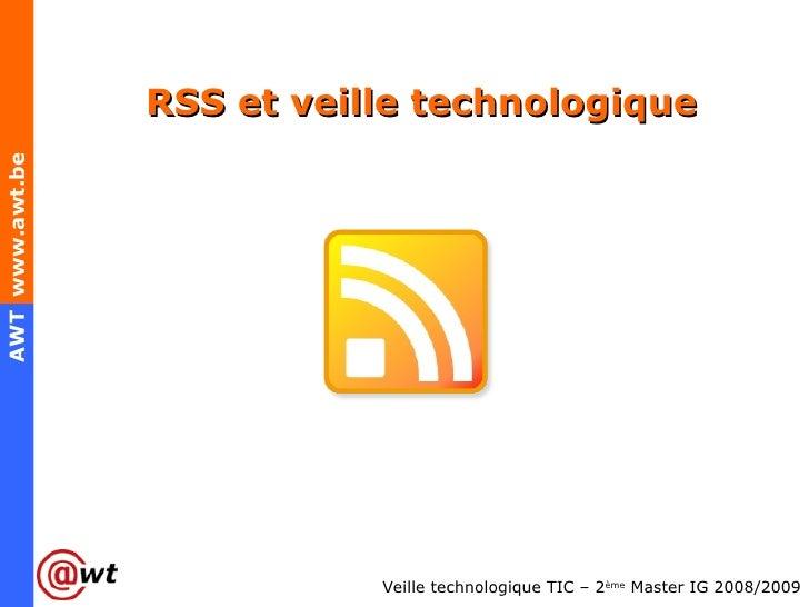 RSS et veille technologique