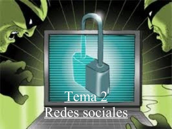 Tema 2 Redes sociales