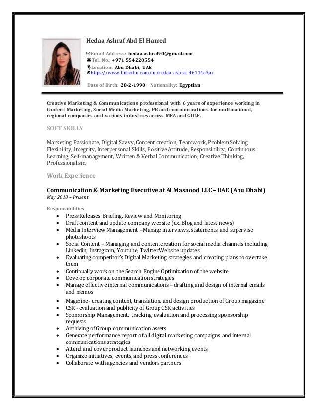 Hedaa Ashraf Resume