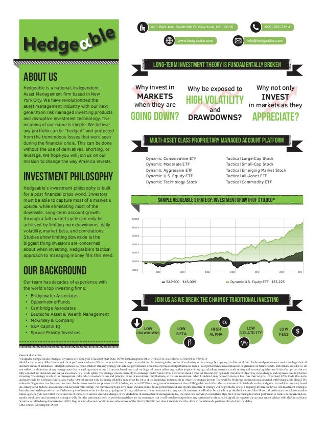 hedgeable company one pager, Powerpoint templates