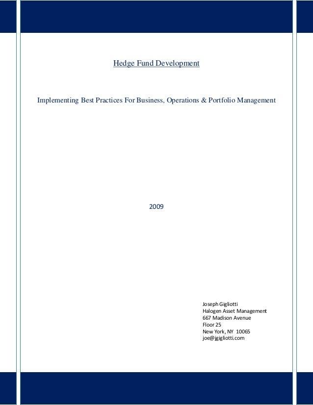 Hedge Fund Management