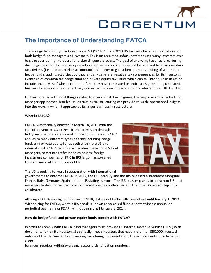 """The Importance of Understanding FATCAThe Foreign Accounting Tax Compliance Act (""""FATCA"""") is a 2010 US tax law which has im..."""