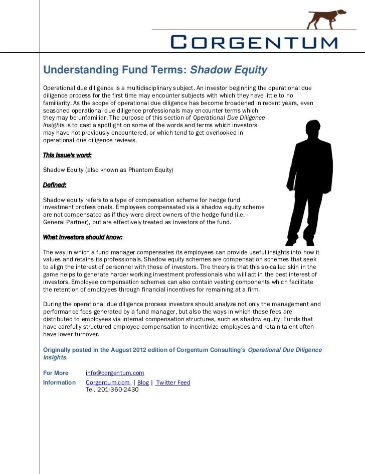 Understanding Fund Terms: Shadow EquityOperational due diligence is a multidisciplinary subject. An investor beginning the...