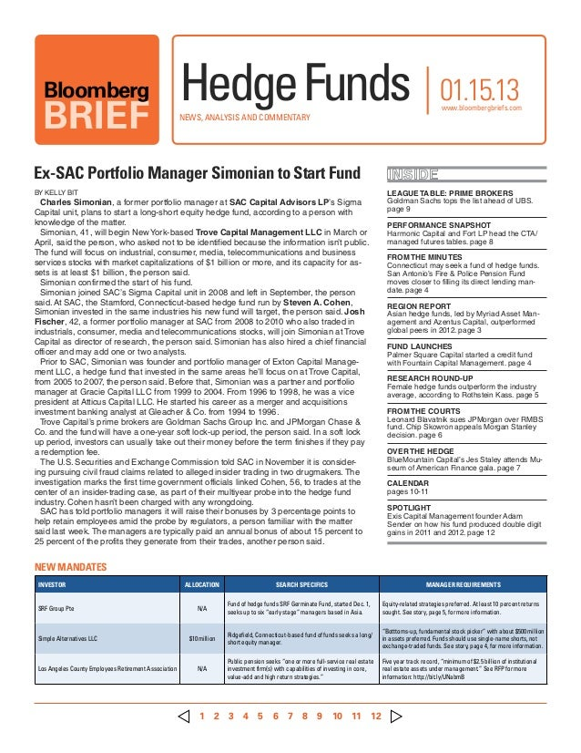 Hedge Funds - Exclusive Newsletter Sample