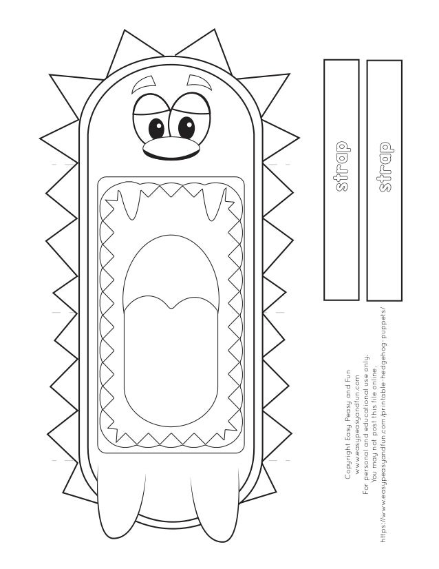 photo about Printable Puppets known as Hedgehog printable-puppet