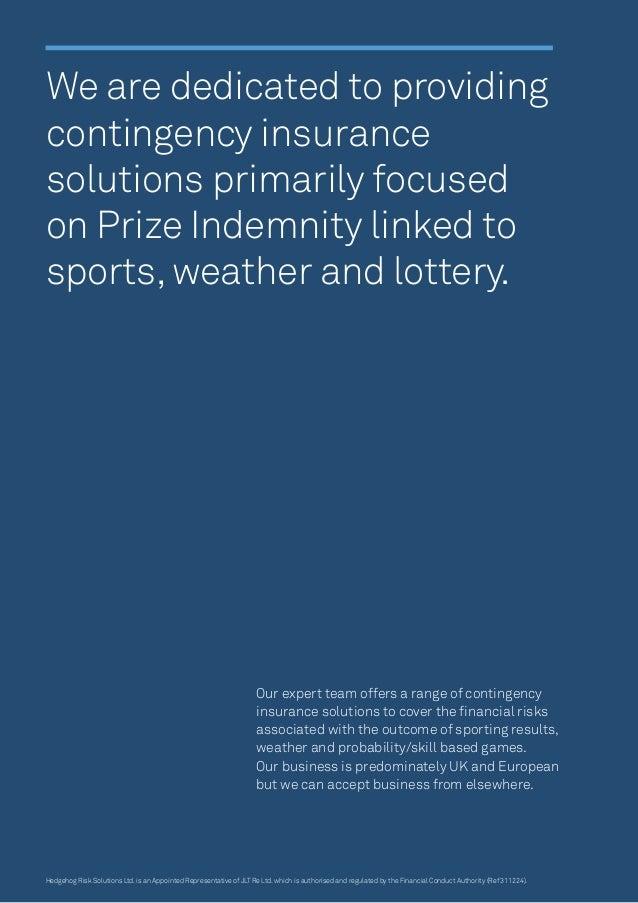 Hedgehog Risk Solutions: Sports Contingency  Slide 2
