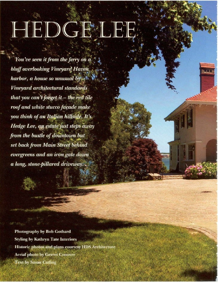 Hedge Lee Article