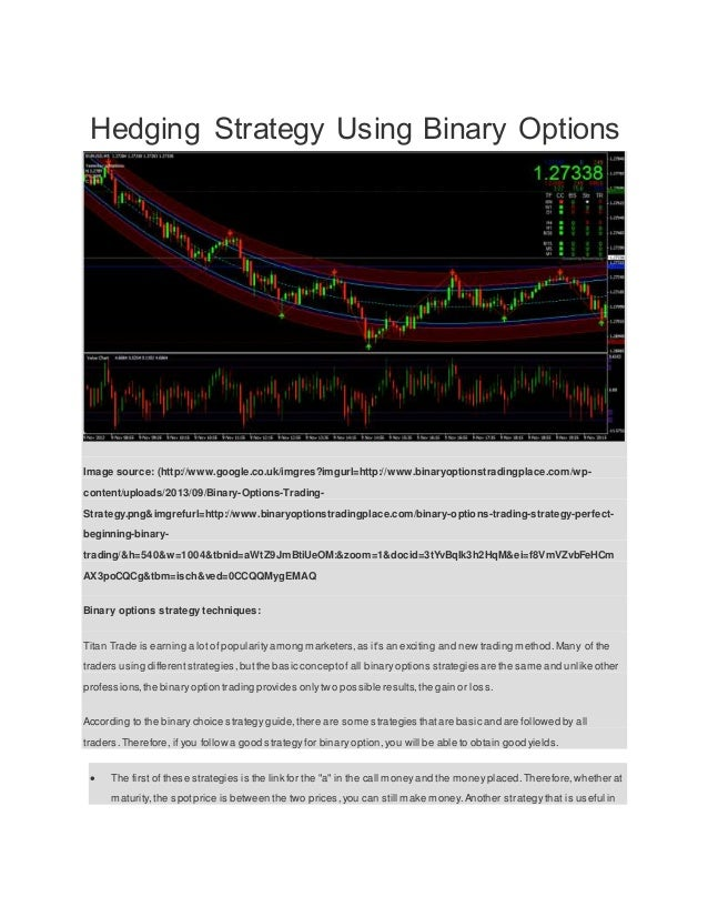 Hedging strategy in binary options