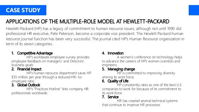 Human Resources at Hewlett-Packard Case Study Analysis & Solution