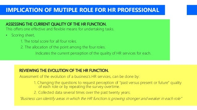 dave ulrich four hr roles Over the last two decades the ulrich model has  this privileged status owes much to the academic and hr advocate dave ulrich  identified four roles that hr.