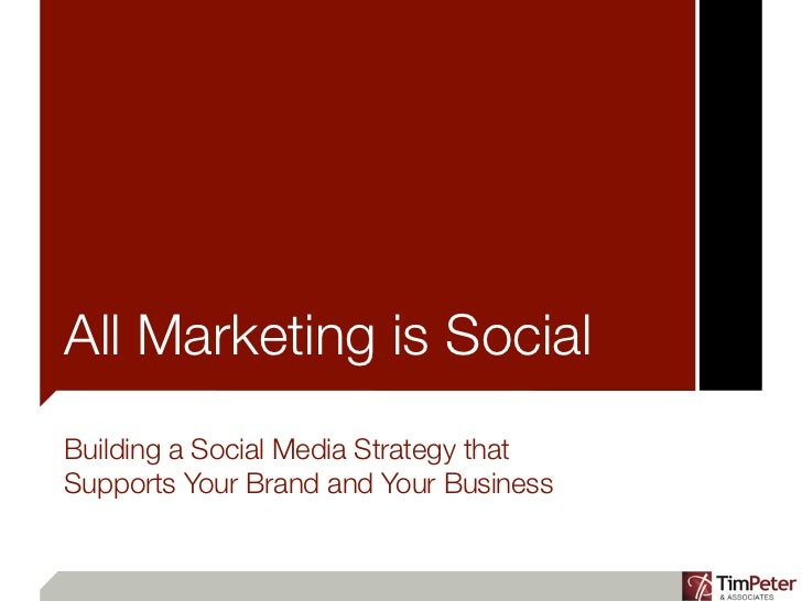 All Marketing is SocialBuilding a Social Media Strategy thatSupports Your Brand and Your Business