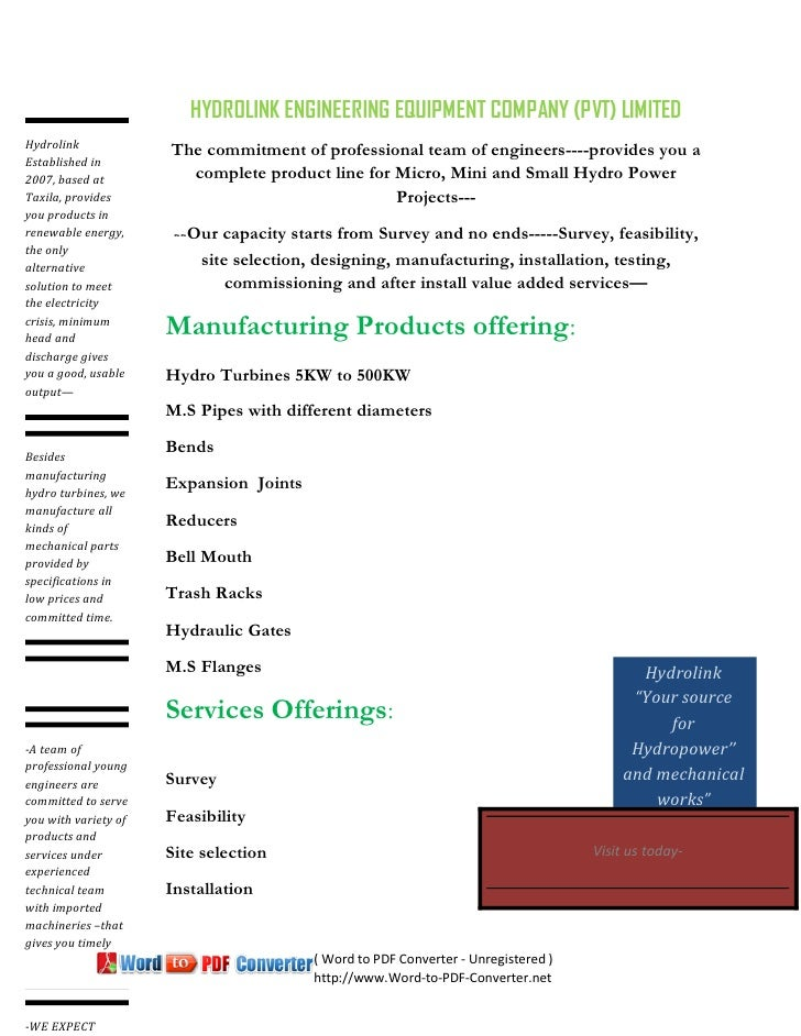 HYDROLINK ENGINEERING EQUIPMENT COMPANY (PVT) LIMITEDHydrolink             The commitment of professional team of engineer...