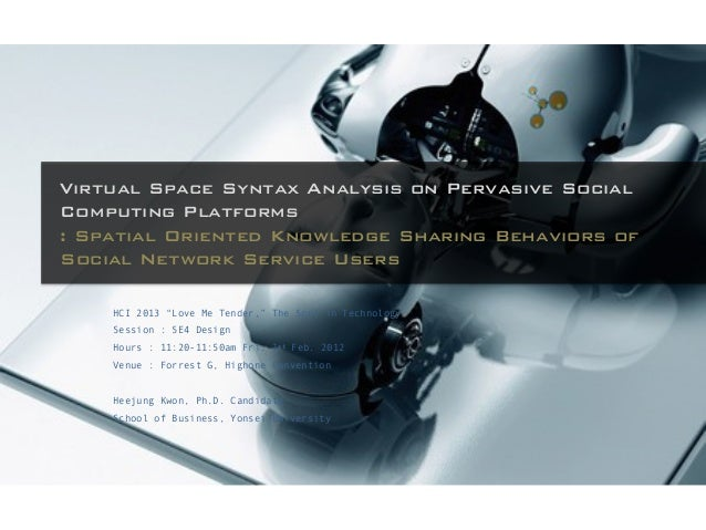 Virtual Space Syntax Analysis on Pervasive SocialComputing Platforms: Spatial Oriented Knowledge Sharing Behaviors ofSocia...