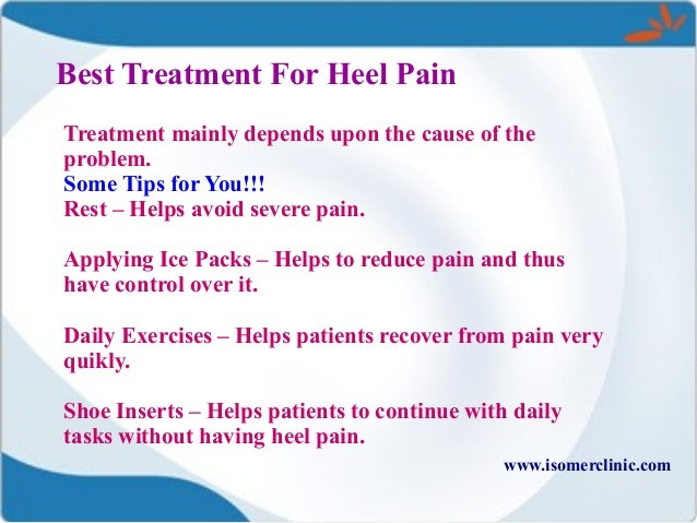 best treatment for heel pain