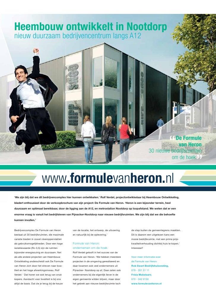 Heembouw ontwikkelt in Nootdorpnieuw duurzaam bedrijvencentrum langs A12                                                  ...