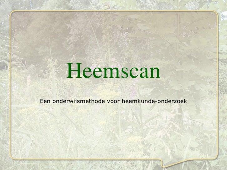 Heemscan Een onderwijsmethode voor heemkunde-onderzoek