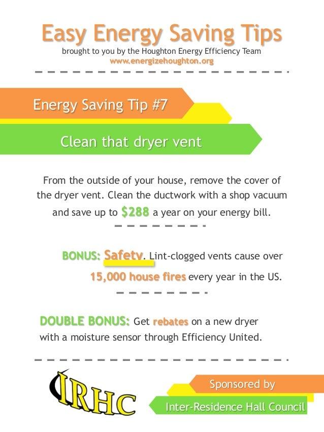 HEET's Energy Saving Tips