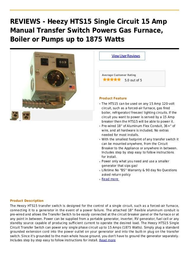 Ge 15 Amp Single Manual Guide