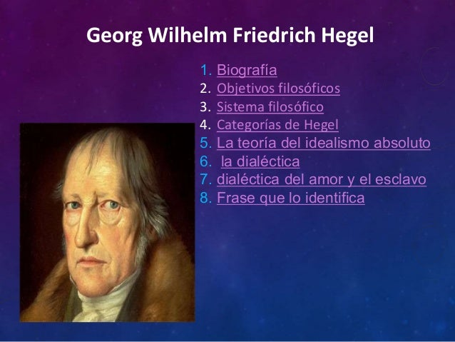Datos Importantes De Hegel