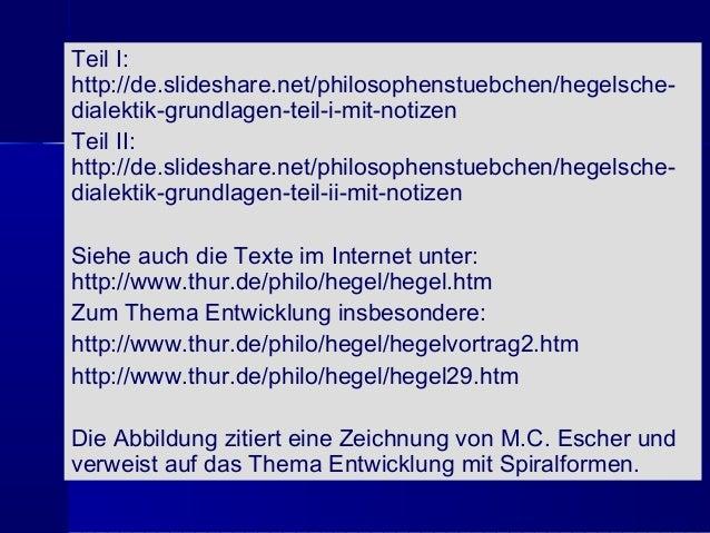 Hegelsche Dialektik Grundlagen Teil III mit Notizen Slide 2