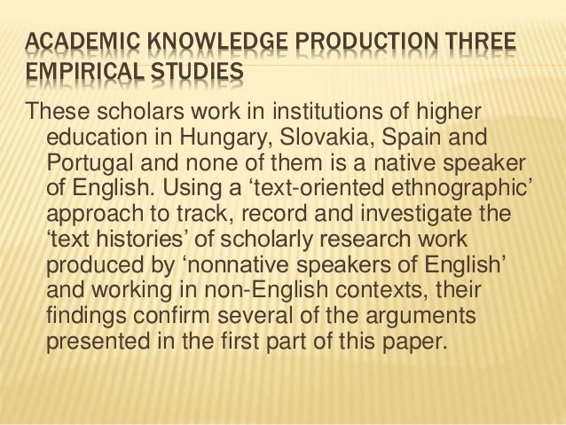 English studies text production oral