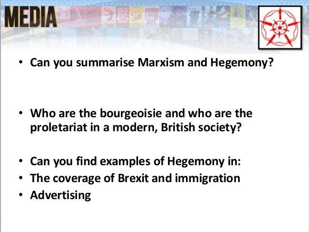 Hegemony marxism and common sense