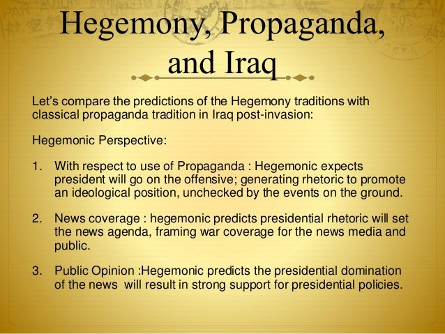 the invasion of iraq an american propaganda Ignore the jingoism, from politicians and the press—the 10th anniversary of george w bush's invasion of iraq marks a tenth year from hell ad policy skip to content.