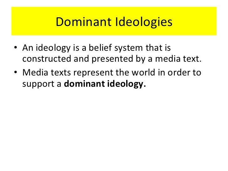 what is the dominant ideology of the family